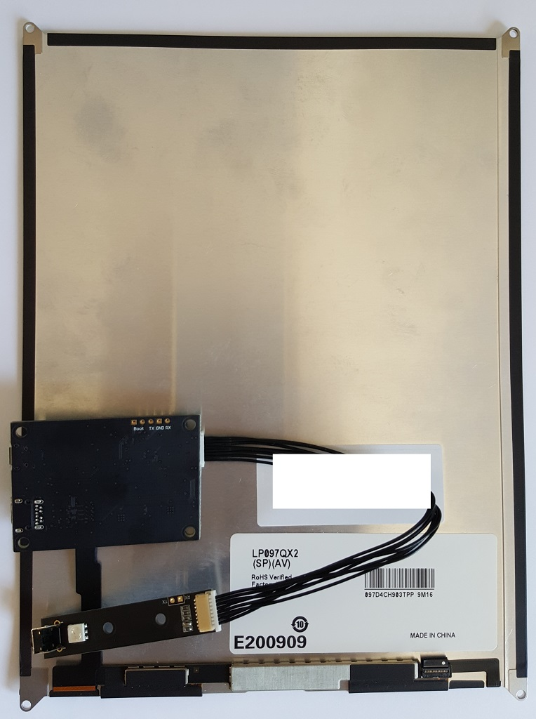 "iPad Retina 1536x2048 9.7"" (QX2) LCD to Mini DisplayPort Adapter - Click Image to Close"